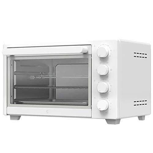 LQ Mini Ovens Miniforni Piccoli Elettrodomestici Forno Elettrico Multifunzionale, 32L Grande capacità di Controllo Automatico della Temperatura Forno, Bianco Tristrato Cottura Macchina Orizzontale