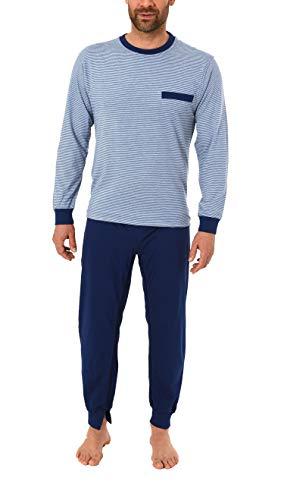 Normann Care Herren Pflegeoverall langarm mit Reissverschluss am Rücken und Bein 181 170 90 504, Farbe:blau, Größe:S