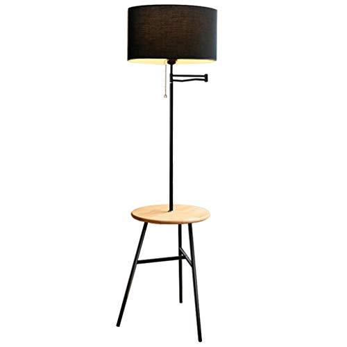 NNIU- Lámpara de pie con brazo oscilante, lámpara de hierro, decoración vertical, lámpara de pie, estudio, dormitorio, 40x162cm (Color : A)