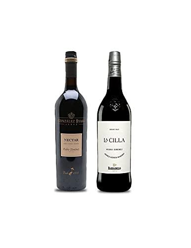 Vino Pedro Ximenez Nectar de 75 cl y Vino Pedro Ximenez La Cilla de Barbadillo de 75 cl - Mezclanza Exclusiva