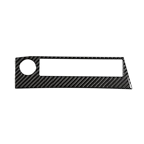 HUAER Fibra de Carbono Instrumento ABS Control DE Control DE Control DE Control DE Interruptor DE Recorte Ajuste para Toyota RAV4 2015-2019 Cajas de automóviles (Color Name : Black)