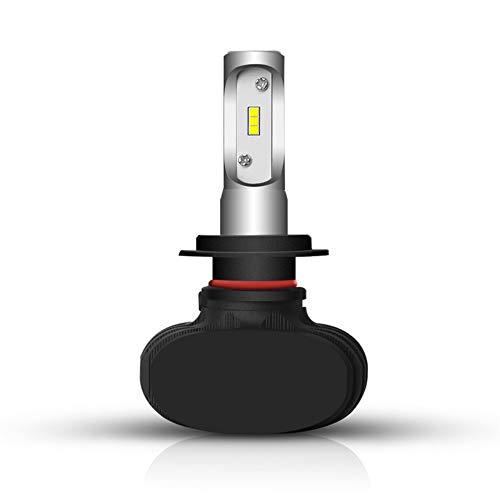 S1 LED phare kit 9006 halogène remplacement aluminium près et loin de lumière lumière de 5800ML, blanc 12 24V, 1 pièce