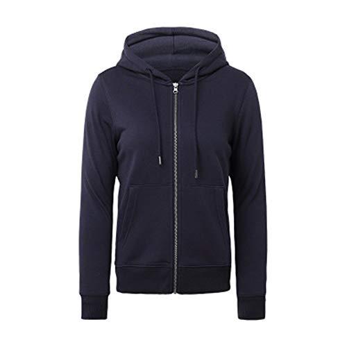 x8jdieu3 Frauen Kapuzenpullover Reißverschluss Jacke Herbst und Winter einfarbig Mode Hemd Strickjacke Damen lässig Sport Hoodie