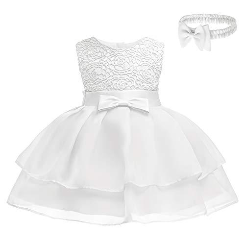 FUTURE FOUNDER baby prinses jurk meisjes bloemenmeisjesjurk doopjurk feestelijke jurk bruiloft partyjurk babykleding 0-2 jaar oud...