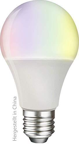 swisstone Smart Wifi LED-Leuchtmittel, E27 (806 Lumen, 9 Watt) LED Multicolor (RGB), sprachsteuerbar, kompatibel mit App, arbeitet mit Amazon Alexa und Google Home, SH 340