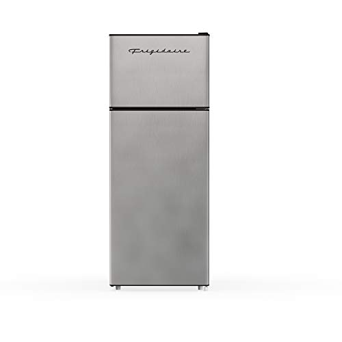 RCA RFR725 EFR749 2 Door Apartment Size Refrigerator with Freezer, 7.5 cu. ft, Platinum, Stainless