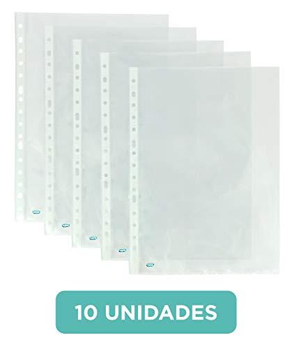 Fundas plástico folio(A4) Elba. 10 unidades. Multitaladro.