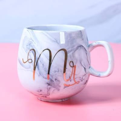 ZZLLFF Taza de cerámica de mármol Creativa Flamingo Taza de café Taza Taza de té Oficina de Oficina Regalo (Capacity : 301 400ml, Color : D)