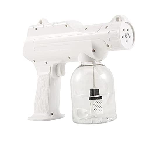 Fenteer Pistola de PULVERIZACIÓN Nano desinfectante portátil, rociador eléctrico de Mano, máquina de nebulización de Luces Azules, Pistola de Vapor para casa,
