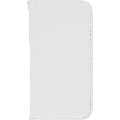 PhoneNatic Kunst-Lederhülle kompatibel mit LG K5 - Book-Hülle weiß + 2 Schutzfolien
