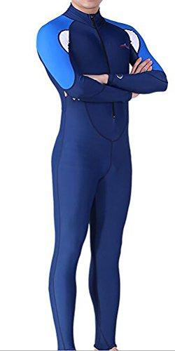 DIVE&SAIL Damen Herren Lange Ärmel Tauchanzug One Piece UV-Schutz Badeanzug (XXXXL, Herren)