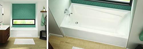 MAAX 106221-L-000-001 Exhibit Acrylic Left-Hand Bathtub, 65.875-in L x 32-in W x 18-in H, White