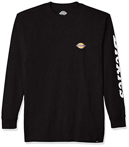 Dickies Herren Long Sleeve Logo Graphic Tee T-Shirt, schwarz, Groß