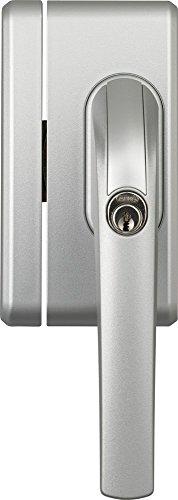 ABUS Fenster-Zusatzsicherung FO400N AL0125 - Fensterschloss mit Druckzylinder, gleichschließend - ABUS-Sicherheitslevel 10 - 37194 - Silber