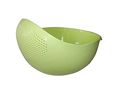 Japanese Design Rice Washer Strainer Colanders for Cleaning Vegetable, Fruit, Pasta