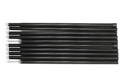 Sutekus Tent Poles, Two-piece Adjustable Bars ,Height about 2 meters(black)