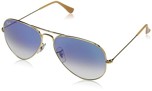 Aviator Aviator metal - gafas de sol Argent (Crystal Blue Gradient) 58