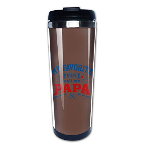 Travel Mug Coffee Cup Insulated Reusable Coffee Cup for Women Men Thermal Tumbler with Wrap for Hot and Cold Water Coffee and Tea,My Favorite People Call Me Papa