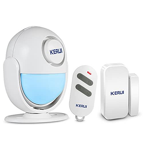 KERUI PIR Bewegungsmelder Alarm, Bewegungssensor mit Fernbedienung,...