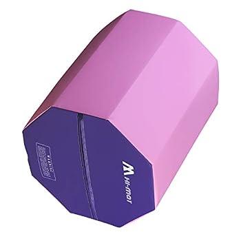 Gymnastics Mat Cheese Wedge Mat Octagon Tumbler Multi-size Skill Shape Tumbling Mat PVC Surface Handsprings Backbend Somersault Wrestling Octagon tumbler Pink & purple