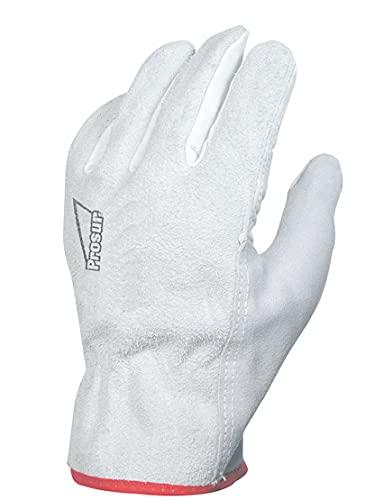 Singer - Paire de gants paume fleur de bovin - Dos croûte - Coloris naturel - Taille 9-50FC