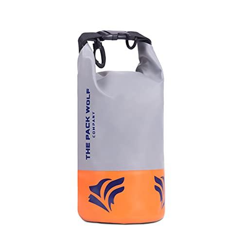 The Pack Wolf Company Bolsa seca impermeable premium 2L correas ajustables para el hombro kayak, rafting canotaje deportes acuáticos flotantes (2L)
