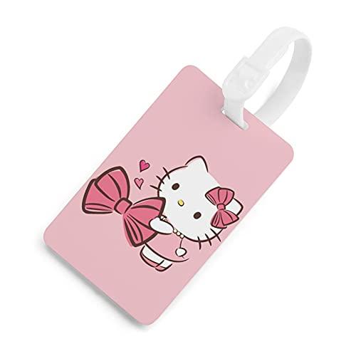 Hello Kitty etiqueta de equipaje, lista de bolsas, tarjeta de embarque facturado, etiqueta de identificación de viaje etiqueta de privacidad dibujos animados lindos hombres y mujeres blanco-style1