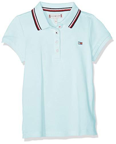 Tommy Hilfiger Tommy Hilfiger Baby-Mädchen Essential Polo S/S Poloshirt, Blau (Blue Light 483), (Herstellergröße: 86)