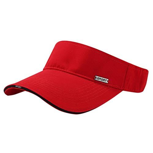 EUCoo - Gorra con visera para el sol ajustable, para correr, al aire libre, para mujer, vacía, sombrero de sol, golf, béisbol, tenis, running