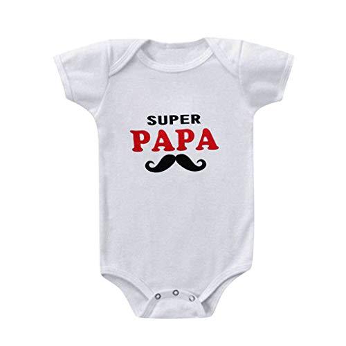 Kobay Neugeborene Baby Mädchen Jungen Ich Liebe Mama Strampler Bodysuit Baby Kurzarm Schriftzug Love Print Harness Jumpsuit (6-24M)