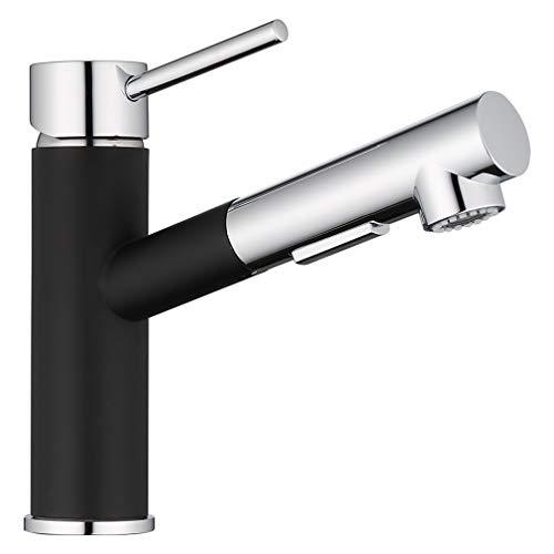ubeegol Küchenarmatur ausziehbar Schwarz Wasserhahn Küche Armatur mit 2 Strahlarten Spültischarmatur 120° Schwenkbar Mischbatterie Küchenwasserhahn aus Messing Chrom