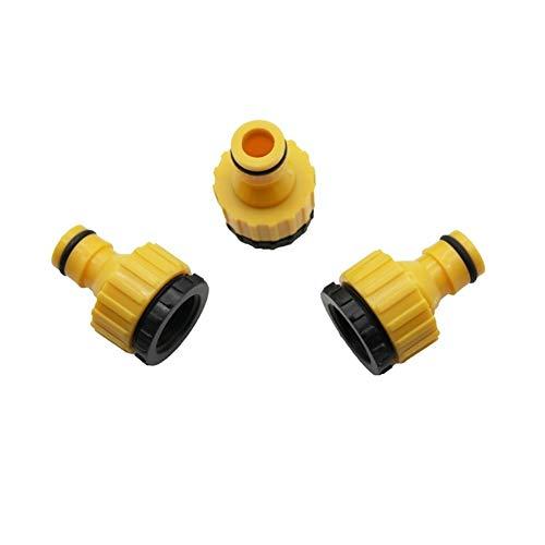 Conector de tubo de manguera Sistemas de riego de césped para jardín, adaptador industrial, 20 piezas estándar de lavadora, accesorios de manguera y cañones de agua (diámetro: 1/2 pulgadas)