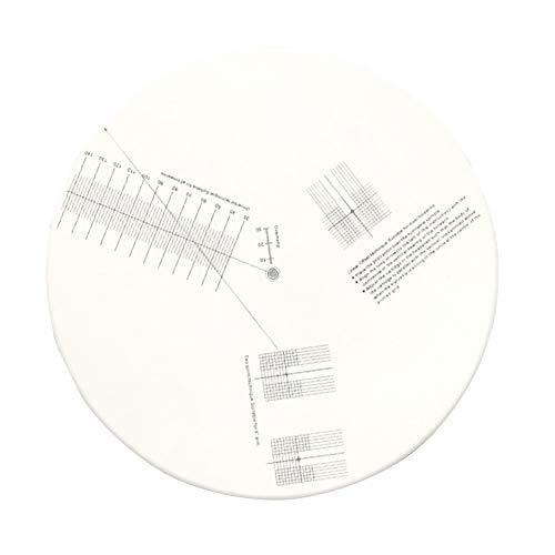 PURATEN geluidsabsorptiekalibratie, anti-slip geluidsplaten-instelkalibratieplaat liniaal voor hoekmessen-instelgereedschap liniaal voor platenspeler-accessoires