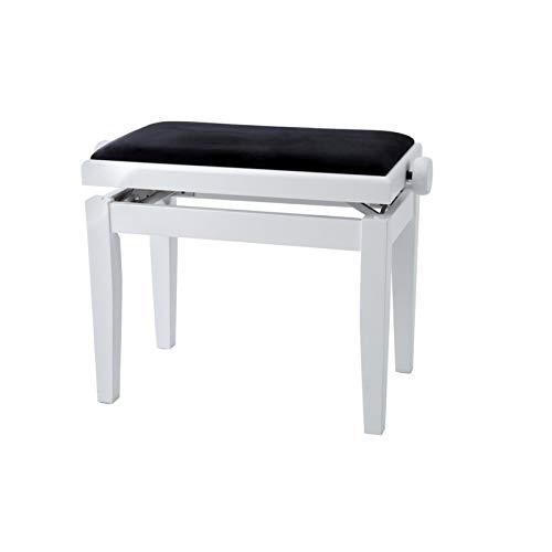 Gewa Piano Bench Deluxe White, Black Seat