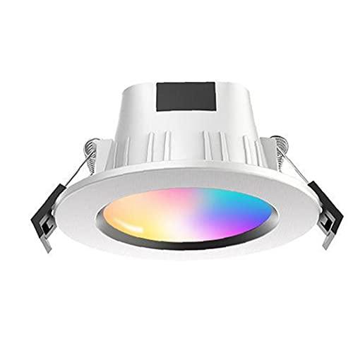 Obelunrp LED Empotrable Downlight Teléfono inalámbrico Controlado Smart Smart RGB Spotlights LED Downlight Smart