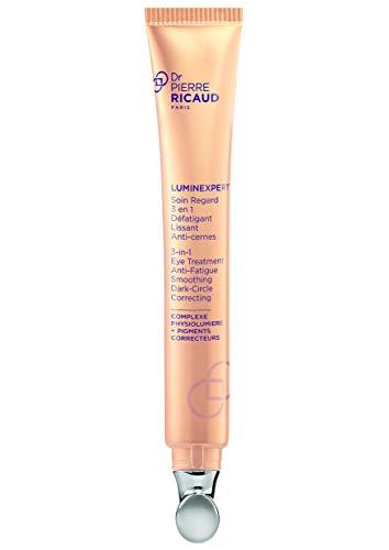 Dr. Pierre Ricaud – 3-in-1-Augenpflege – LUMINEXPERT – Belebt & glättet – Kaschiert Augenringe – Wirkt abschwellend – Getönte Anti-Aging-Creme für Frauen – Anti-Falten-Augencreme – 15 ml Tube