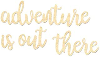 adventure is out there wooden sign
