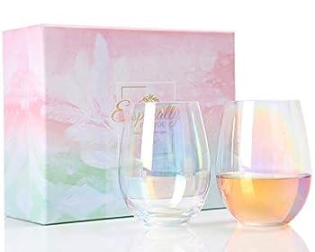 cute stemless wine glasses