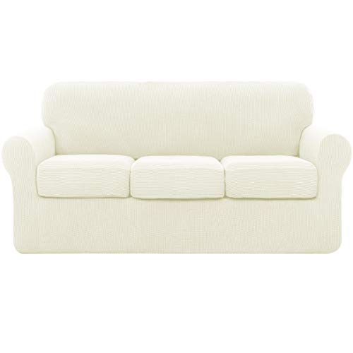 subrtex Sofa Cover High Stretch Couch Slipcover with Separate Cushion Couch Cover Soft Loveseat...