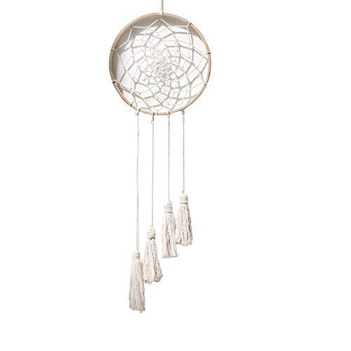Macramé - Tapiz nórdico de estilo bohemio, diseño bohemio, color blanco