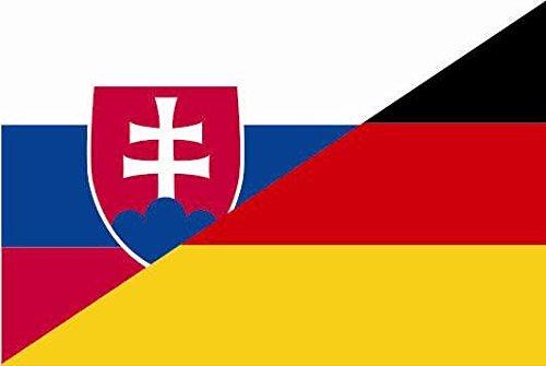 U24 Aufkleber Slowakei-Deutschland Flagge Fahne 8 x 5 cm Autoaufkleber Sticker