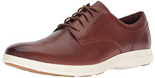 Cole Haan Men's Grand Tour Plain Oxford Woodbury/Ivory Flat, 10.5 M US