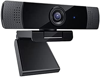 2021 Latest 1080p Webcam with Dual Stereo Microphones,...