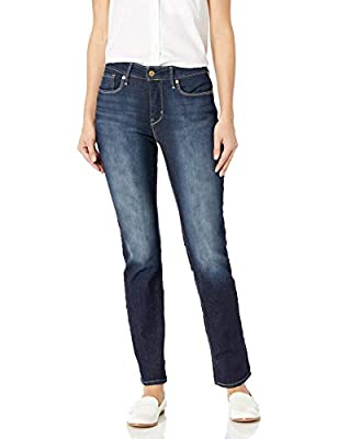 Signature by Levi Strauss & Co. Gold Label Women's Plus Totally Shaping Slim Straight Jeans, Perfection, 16