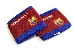 Schweißbänder mit FC Barcelona Design, 2 Stück (Einheitsgröße) (Burgunder/Blau)