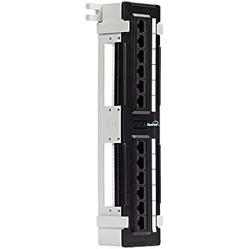 C2G 03857 12-Port Blank Keystone//Multimedia Patch Panel Black
