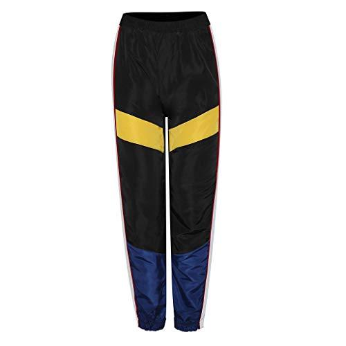 Eaylis Damen Hosen Casual Nähte Kontrastfarbe Beam Pluderhosen Hosen Frauen Pants