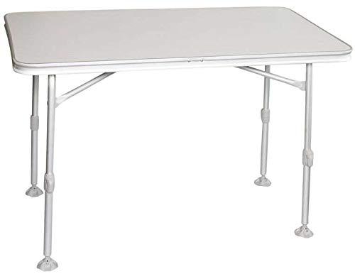 bel-sol Alu Klapptisch Campingtisch mit Kunststoffplatte Tisch 115 x 70