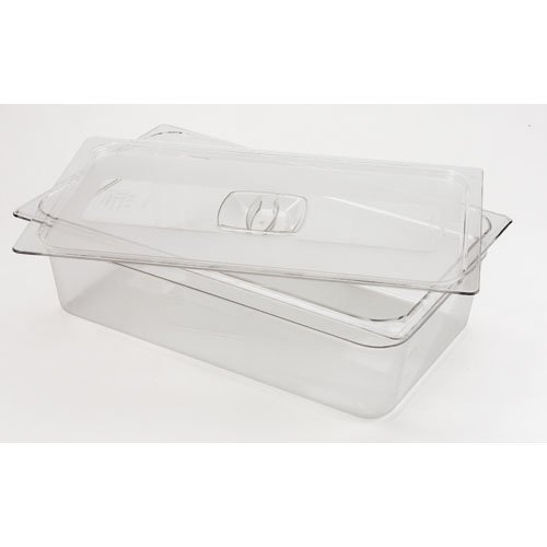 Rubbermaid Commercial Products FG134P00CLR Cold Food Pan Cover Full Size (Pack of 6)