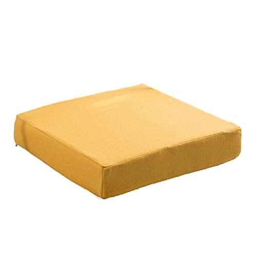 Chair Cushion Back Cushion Seat Cushions - Square Thicken High-Density Sponge Cushion Living Room Sofa Linen Cushion Chair Back Cushion Thickness 5CM/8CM Office Chair Mat Comfortable Durable